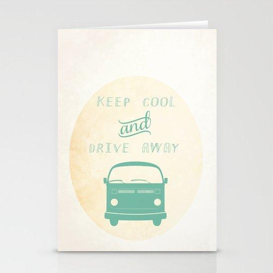 Keep cool & drive away Stationery Card