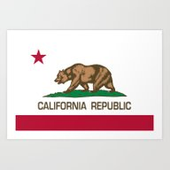 California Republic Stat… Art Print