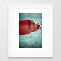 Pool Of Blood Framed Art Print