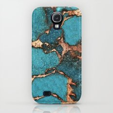 AQUA & GOLD GEMSTONE Slim Case Galaxy S4