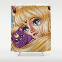 Sailor Moon and Luna Shower Curtain
