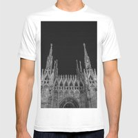 Milan: a city of Paradox  Mens Fitted Tee White SMALL