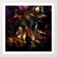 Wolf Forest Abstract Art Print