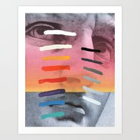 Art Print featuring Composition on Panel 4 by Chad Wys