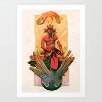 The Stone Egg & The Birt… Art Print