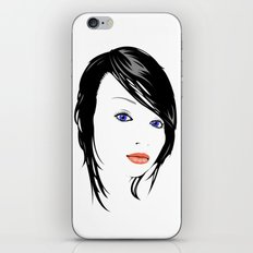 minimal girl 1 iPhone & iPod Skin