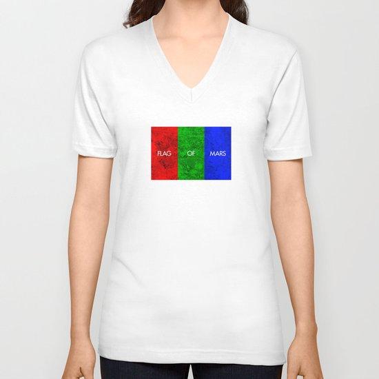 THE FLAG OF MARS V-neck T-shirt
