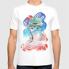 Olga White SMALL Mens Fitted Tee