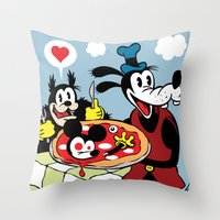 MICKEY'S PIZZA Throw Pillow