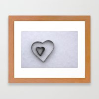 I carry your heart in my heart Framed Art Print