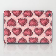 Wine Colored Hearts iPad Case