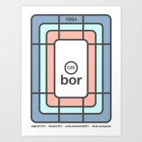 bor single hop Art Print
