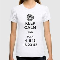 Keep Calm - Lost Poster Womens Fitted Tee Ash Grey SMALL