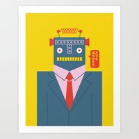 Mr. Roboto Art Print