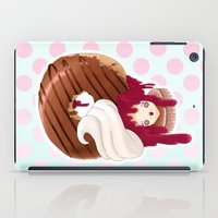 Doll faced jelly filled chocolate donut iPad Case