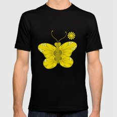 daisy 4 SMALL Black Mens Fitted Tee