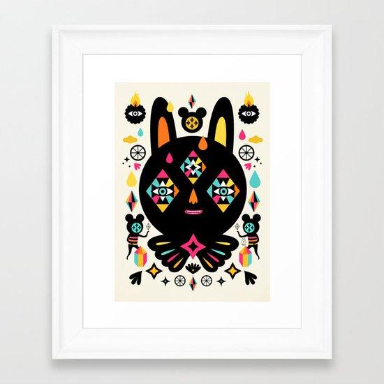 Rainbow Bunny Framed Art Print