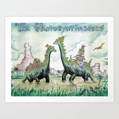 Photosynthesaurs Art Print