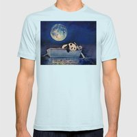 Blue Moon Mens Fitted Tee Light Blue SMALL