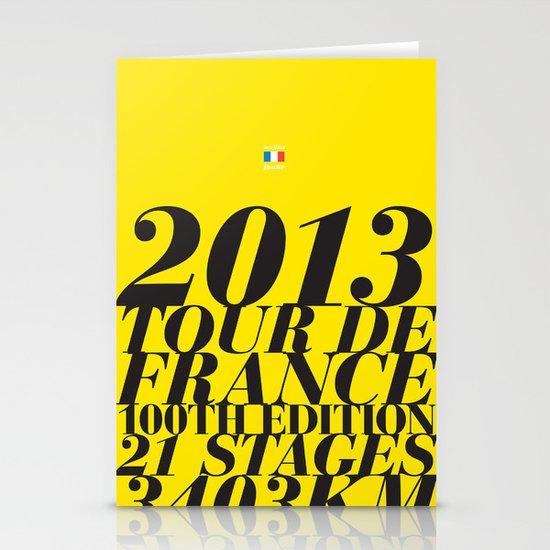 2013 Tour de France: Maillot Jaune Stationery Card