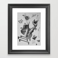 Framed Art Print featuring Hands by Oh Yeah Studio