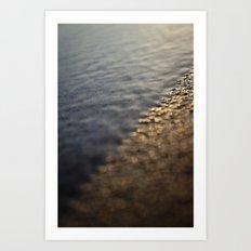 Sandy Sunrise on Beach Art Print
