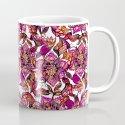 Bright watercolor floral mandala henna hand drawn pattern Mug