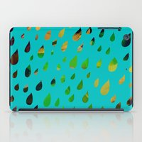 IT RAINED ALL DAY- BLUE iPad Case