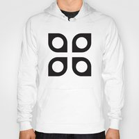Curved circle pattern Hoody