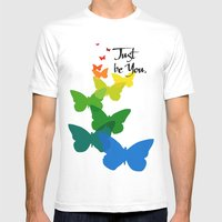 Just be you Mens Fitted Tee White SMALL