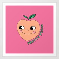Pretty Peach Art Print