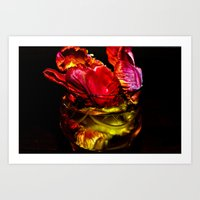 EROS And DEATH - Red Art Print