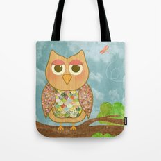 Woodland Owl in a Tree Tote Bag