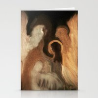 Little Family Of Angels, Abstract, by Sherriofpalmsprings Stationery Cards