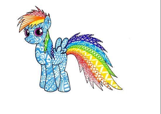 My Little Pony Rainbow Dash Art Print