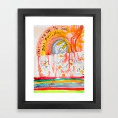 Shine On Me Like The Sun (No.16) Framed Art Print