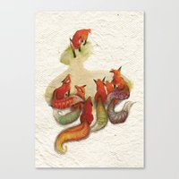 aesop's fable - the fox and his tail Canvas Print