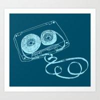 Oldschool Blues Mixtape Art Print