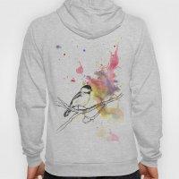 Chickadee in a Splash of Color Hoody