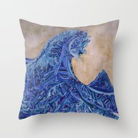 Kanagawa Throw Pillow