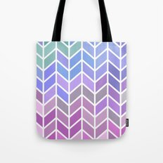 blue & purple chevron Tote Bag