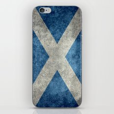 National flag of Scotland - Vintage version iPhone & iPod Skin