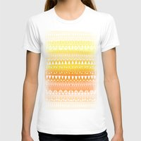 Triangle Gradient Gold M… Womens Fitted Tee White SMALL