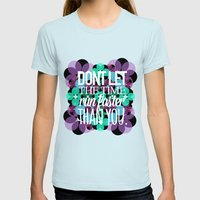 FLOWER  Womens Fitted Tee Light Blue SMALL
