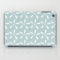 White flowers iPad Case