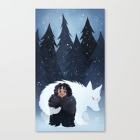 Snow And Ghost Canvas Print