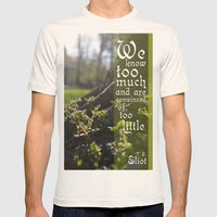 Convinced of Too Little Mens Fitted Tee Natural SMALL