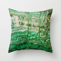 MINERAL BEAUTY - MALACHITE Throw Pillow