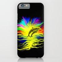 Dolphins in the Sunshine - Fantasy Rainbow-Art iPhone 6 Slim Case