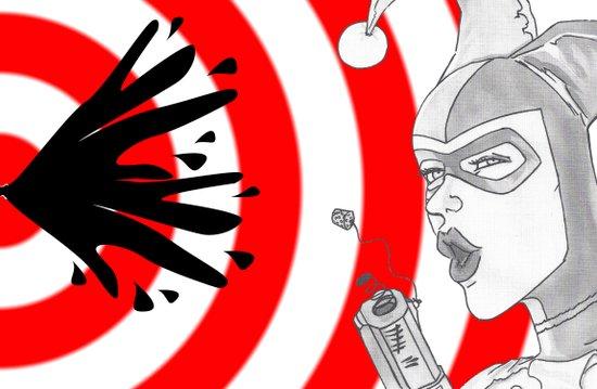 Harley Quinn Bullseye Art Print
